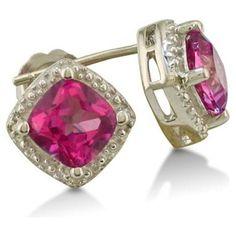 Big pink diamond earrings - Google Search