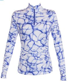 Spyder Women Collection First Layer T Neck – Waves Bling Print