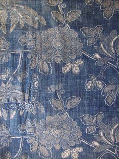 19th century indigo resist textile
