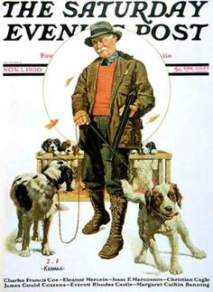 Saturday Evening Post - 1930-11-01: Springer Spaniels (J.F. Kernan)