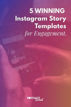 5 Winning Instagram Story Templates For Engagement #instagrammarketing #instagramstory #instagramstories #templates