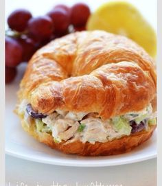 Chicken Salad Croissant Sandwiches [ Vacupack.com ] #lunch #quality #fresh