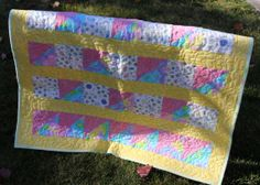 Baby Quilt Baby Blanket Girl Patchwork by DesignsbyJuliAnn on Etsy, $75.00