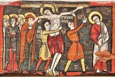 Viga de la Pasión - Pintura románica con influencia bizantina