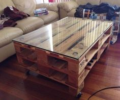 Now you can earn use of recycled pallet wood to create innovative and more handy parts of furniture for coffee table. There are two major varieties of wood pallets. 1 important thing with pallet furniture is you will want to finish it. Wooden Pallet Projects, Wooden Pallet Furniture, Pallet Crafts, Wooden Pallets, Pallet Wood, Wood Pallet Coffee Table, Wooden Decor, Outdoor Furniture, Garden Furniture