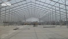 SHELTER Warehouse Structures Warehouse Tent - Temporary Storage Building - Fabric Structures for Industrial Use -45