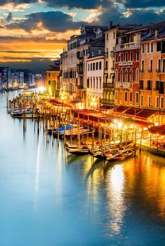 Venice,Italy.  What an amazing photo... I have not seen the canal without moving watercraft, though!