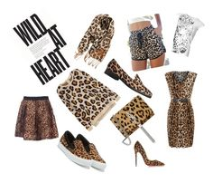 """Wild at heart"" by carmeni1001 ❤ liked on Polyvore featuring BP., H&M, L.K.Bennett, Yves Saint Laurent, Salvatore Ferragamo, EA7 Emporio Armani, Mela Loves London and Christian Louboutin"