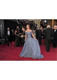 Gorgeous Oscar Red Carpet  Silk Like Chiffon Off-the-Shoulder Neckline Occasion  / EveningDress