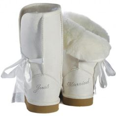 485023afff See more. Wedding Uggs!! I want to wear these on the plane on our way to