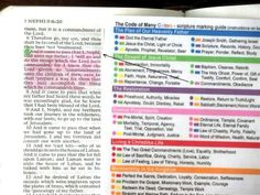 Scripture Marking System and Color Coding Guide for LDS Scripture Study - JDT Cards Scripture Reading, Scripture Study, Scripture Journal, Lds Church, Church Ideas, Later Day Saints, Lds Scriptures, Bible Study Tips, Book Of Mormon