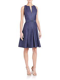 Akris Punto - Ribbed Silk A-Line Dress