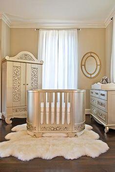 A Luxury Baby Nursery Room Round Cribs, Luxury Nursery, Nursery Furniture, Nursery Room, Nursery Ideas, Girl Nursery, Nursery Decor, Design Moderne, Nursery Neutral