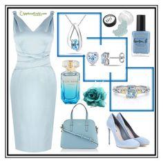 """ApplesofGold.com White Gold & Blue diamonds"" by merisa-imsirovic ❤ liked on Polyvore featuring Karen Millen, Miu Miu, Kate Spade and Lauren B. Beauty"