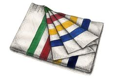 The Hudson's Bay Company Point Blanket is arguably the oldest and most recognizable pattern still being produced today.