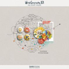 World Geography 101 | Sahin Designs | Digital Scrapbook Freebie
