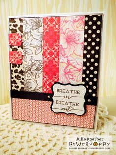 Out To Impress: Happy World Card Making Day! Here's a challenge for you!