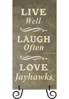 Kansas Jayhawks Live, Laugh, Love Trivet | KU Jayhawks Trivet