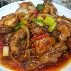 Spicy Chicken Recipes, Chicken Meals, Malay Food, Indonesian Food, Indonesian Recipes, Asian Cooking, Creative Food, Chicken Wings, Chicken Breasts