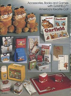 """1982-xx-xx Sears Christmas Catalog P494 by Wishbook, <3 Garfield!! Remember The Suction Cup Garfields Stuck In Car Windows Usually Next To The """"Baby On Board"""" Announcement!"""