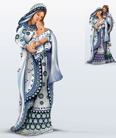 Керамическая статуэтка - Мария и младенец Иисус