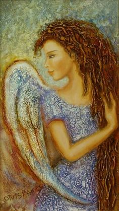 This angel reminds me a bit of Monica from Touched by an Angel 😇 Seraph Angel, Angel Guide, Art Diary, I Believe In Angels, Angel Pictures, Angels Among Us, Angels In Heaven, Arte Popular, Guardian Angels