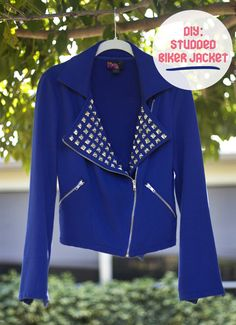 Diy Studded biker jacket