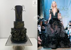 Couture Cakers International 2018 - cake by Sugar Sugar Bakery Wedding Cake Designs, Wedding Cakes, Black Wedding Dresses, Formal Dresses, Couture Fashion, Girl Fashion, Satin Ice Fondant, Cupcake Pictures, Couture Cakes