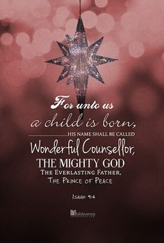 merry christmas For unto us A Son is - weihnachten Merry Christmas, Christmas Jesus, Christmas Blessings, Christmas Quotes, Christmas Greetings, Christian Christmas, Christmas Vacation, Christmas Star, Christmas Wishes