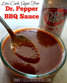 Pepper BBQ Sauce - low-carb, sugar-free, and delicious! Low Carb Bbq Sauce, Low Carb Sauces, Low Carb Recipes, Diet Recipes, Keto Sauces, Bbq Sauces, Ketogenic Recipes, Diabetic Recipes, Cooking