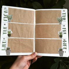 """Polubienia: 353, komentarze: 27 – Jagoda (@jagodapisze) na Instagramie: """"Kolejna rozkładówka gotowa motyw roślinny jak zawsze obecny _______ #weeklyspread #bujo…"""""""