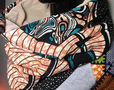 snood foulard infinity tube velours et wax #14-1 #10-2 - Modifier une fiche produit - Etsy
