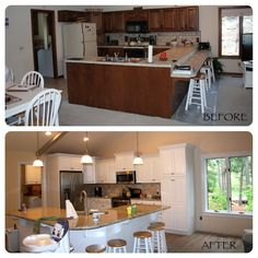 remodel kitchen before and after
