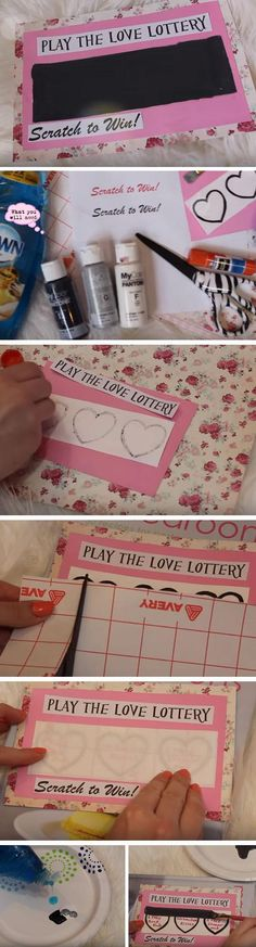 Love Lottery | Easy DIY Anniversary Gift Ideas for Him
