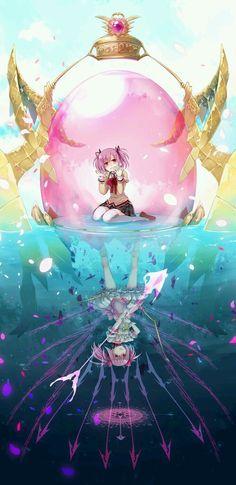 puella magi madoka Madoka Kaname in crystal