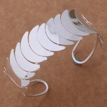 925 prata fina pulseira pulseiras mulheres em forma de lua(China (Mainland))