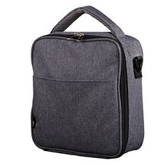 """E-manis Insulated Lunch Bag Lunch Box Cooler Bag with Shoulder Strap for Men Women Kids (gary) - Product Details:Dimension: 10 """"W x 9""""D x3.55""""H Weight: 0.75 poundsMaterial: 600D Polyester fabric;PE foam;Aluminim foil LiningReusable Lunch Bag:Mainly made with high-grade durable material,Sturdy and Eco-friendly; 2 in1 tote or shoulder carry shoulder strap adjustable Features:1. Convenient carr..."""