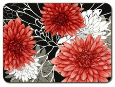 "Jason Fiori Placemats - Set of 4 (Large) by Jason. $42.95. Hardboard, Cork backed. Single image design. Gift Boxed. Size: 17"" x 11.5"". Heat resistant to 225ºF. Durable, heat sealed surface. Attractive top quality placemats by Jason of New Zealand. The hardboard and cork is sourced from renewable resources. The edges are heat sealed, the surface is smooth and the cork backing will protect your table. Just wipe clean with a damp cloth."