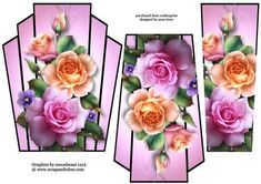 Art Deco Stacker Topper Spring Roses on Craftsuprint - View Now!