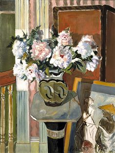Still Life with Peonies, 1949, James A. Porter, oil on canvas, 40 x 30 1/8 in. (101.6 x 76.5 cm.), Smithsonian American Art Museum, Museum purchase through the Luisita L. and Franz H. Denghausen Endowment and the Smithsonian Institution Collections Acquisition Program, 1994.59