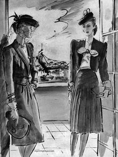 Illustration - Vogue March, 1943 - Conde Nast Archive