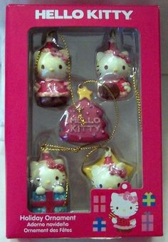Hello Kitty 5 Piece Mini Christmas Ornament Set New $19.99