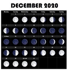 December 2020 Moon sizes calendar for all days available here for free download in vertical layout. #december #calendar2020 #mooncalendar #printable #lunar #planner New Moon Calendar, September Calendar, Calendar 2020, New Moon May, May Full Moon, New Moon Dates, January Moon, Moon Information, Monthly Calendar Template