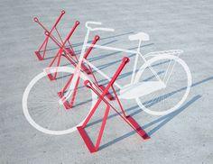 Bike Rack by Studio Tractor Urban Furniture, How To Clean Furniture, Street Furniture, Cheap Furniture, Discount Furniture, Furniture Plans, Furniture Cleaning, Metal Furniture, Bike Parking Rack