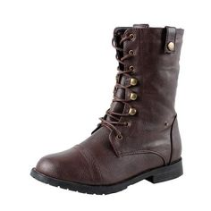 West Blvd Womens Lagos Combat Boots Brown-2 5.5 B(M) US - Chickadee Solutions - 1
