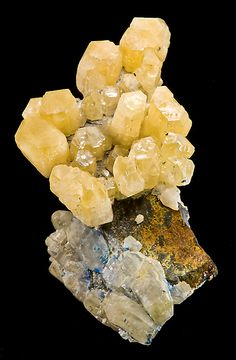 Canary-yellow crystals of Cerussite. From the Daoping Mine, Gongcheng Co., Guilin Prefecture, Guangxi Zhuang Autonomous Region, China.
