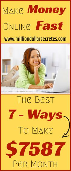 How to make money online - Top 7 - Ways To Make Money Online Fast. Hands down the quickest way to make solid money online . Legit work from home jobs. Learn how to earn extra money from home. Legit Work From Home, Legitimate Work From Home, Work From Home Jobs, Earn Extra Money Online, Ways To Earn Money, Way To Make Money, Get Paid Online, Online Earning, Online Jobs