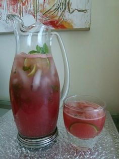 Perfect cool down drink for the 4th watermelon and mint!