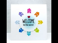 1001 CARTES ON AIR - Non-traditional birth card. YouTube. Not a single baby animal in sight. Very cute, clean and simple