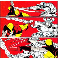"""Wolverine vs. Silver Samurai UNCANNY X-MEN no. 173 (Sep. 1983) By Paul Smith, Bob Wiacek & Glynis Wein"""